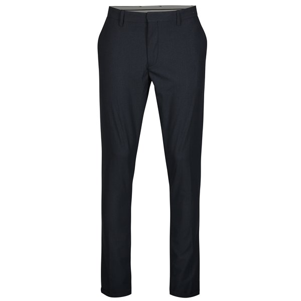 Pantaloni bleumarin cu model discret – Selected Homme Skinny-Nate