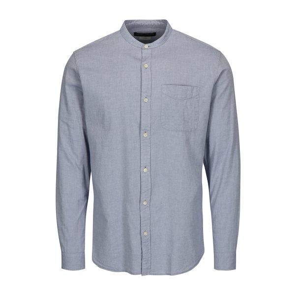 Camasa slim fit bleu cu guler tunica - Jack & Jones Kevin