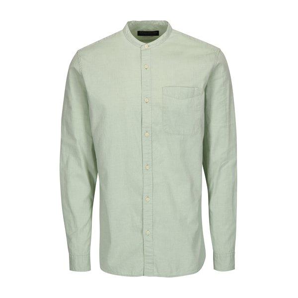 Camasa slim fit verde deschis cu guler tunica - Jack & Jones Kevin