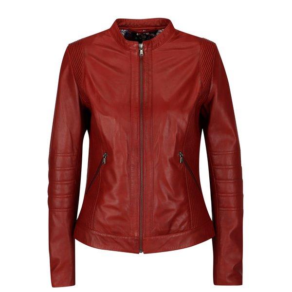 Jacheta biker rosie pentru femei - KARA Bawle