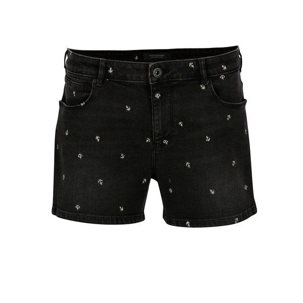 Pantaloni scurti din denim cu ancore brodate discret - Scotch & Soda