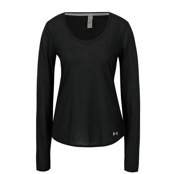 Bluza neagra in dungi pentru femei Under Armour Streaker