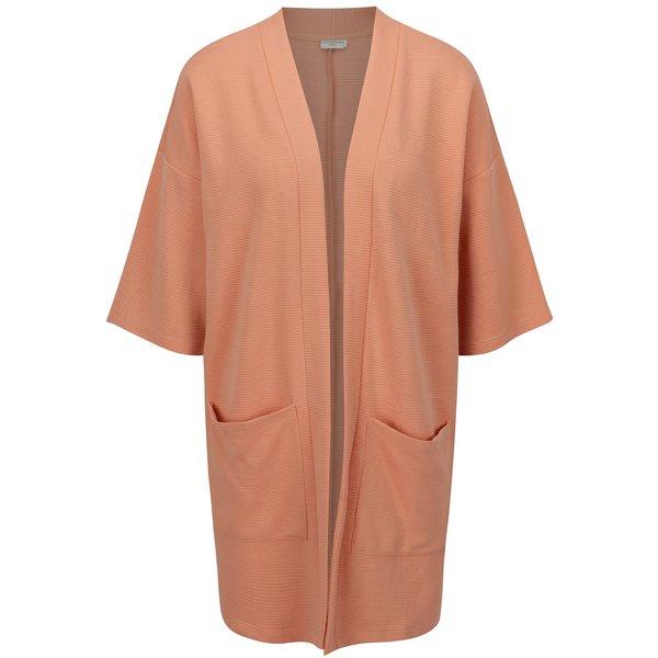 Cardigan roz piersica in dungi cu maneci 3/4 Jacqueline de Yong Boy