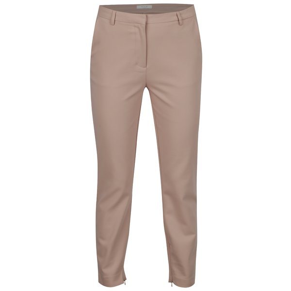 Pantaloni roz prafuit cu fermoare la terminatii - VILA Adelia