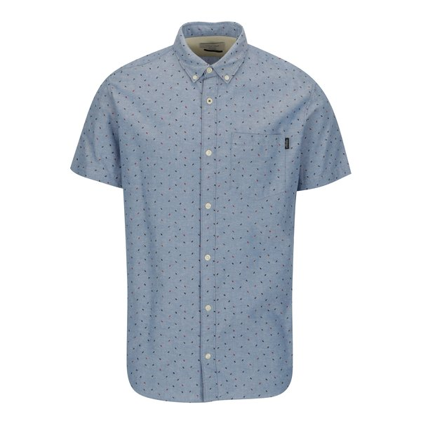 Camasa albastra cu guler button down si buzunar la piept – Jack & Jones Premium Murtough