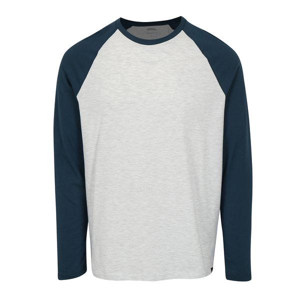 Bluza regular fit cu maneci raglan gri & bleumarin- Burton Menswear London