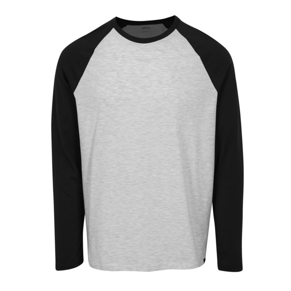Bluza regular fit cu maneci raglan gri & negru - Burton Menswear London