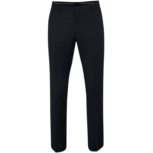 Pantaloni de costum bleumarin din lana cu carouri discrete – Selected Homme Done Buffalo