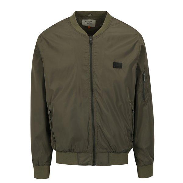 Jacheta bomber verde cu buzunare pe maneci – Blend