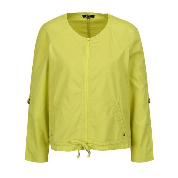 Jacheta subtire verde lime cu maneci ajustabile – Yest