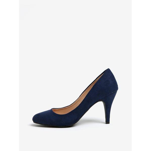 Pantofi bleumarin cu aspect de piele intoarsa Dorothy Perkins