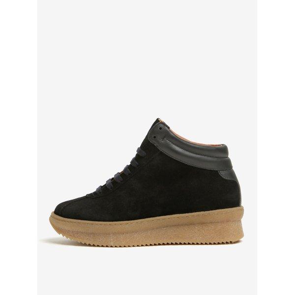 Pantofi sport negri din piele intoarsa cu platforma – OJJU