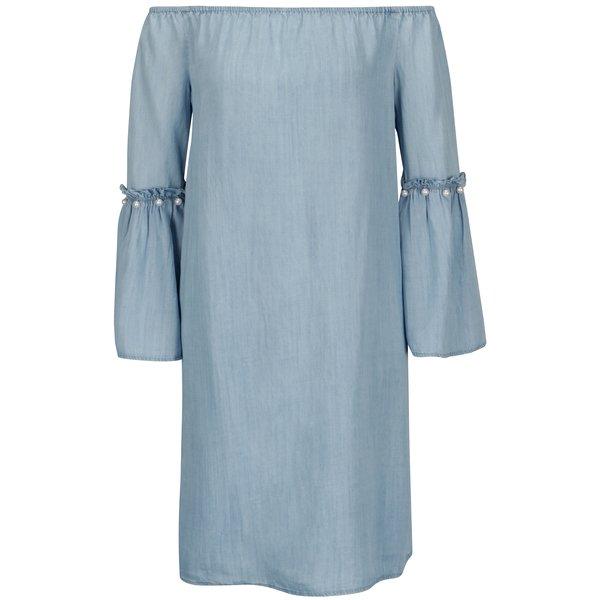 Rochie bleu din denim cu maneci clopot ONLY Vilde
