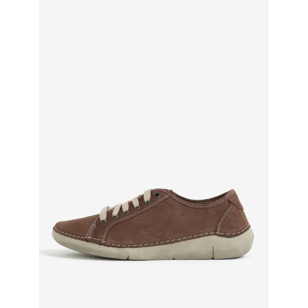 Pantofi sport maro din piele pentru femei Weinbrenner