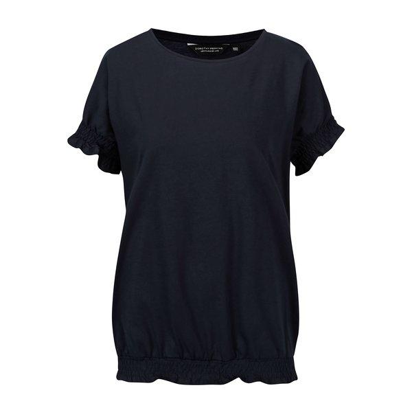 Tricou bleumarin cu insertie elastica Dorothy Perkins