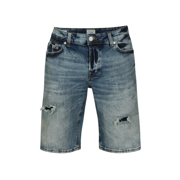 Pantaloni scurti albastri din denim cu aspect deteriorat – ONLY & SONS Ply