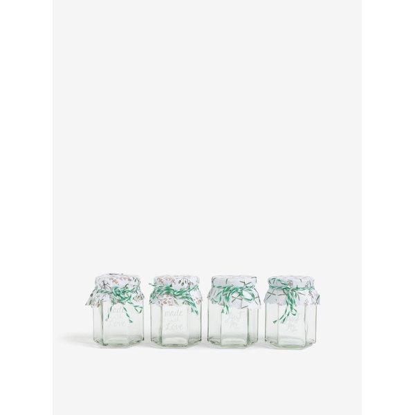 Set de 4 borcane de sticla cu mesaj – Kaemingk