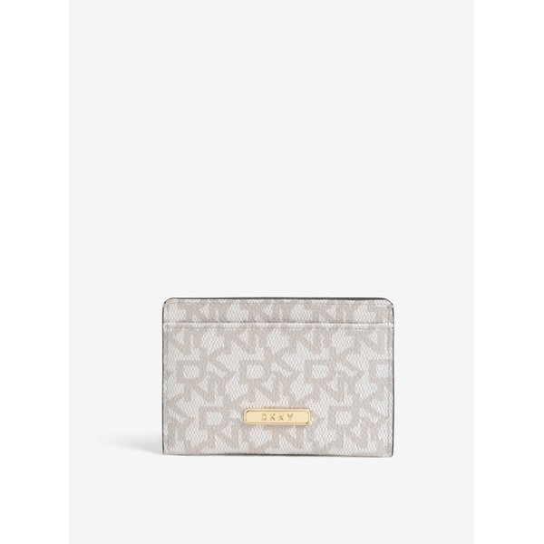Port documente crem cu print logo - DKNY
