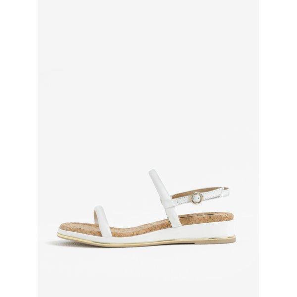 Sandale wedge albe din piele – DKNY