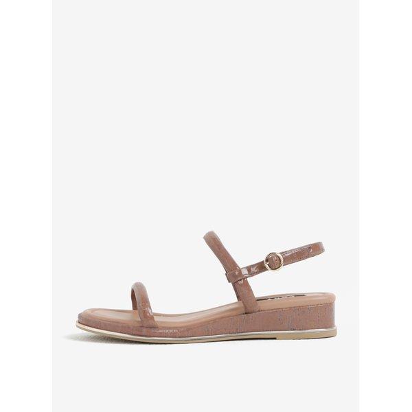Sandale wedge roz prafuit cu aspect de lemn – DKNY
