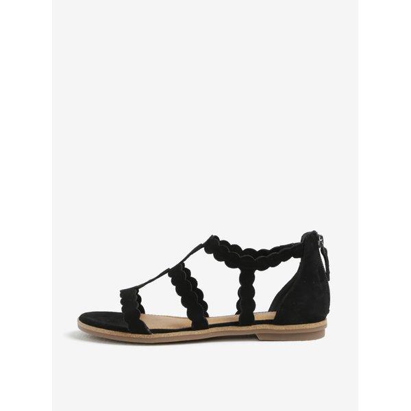 Sandale negre din piele intoarsa – s.Oliver