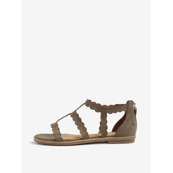 Sandale kaki din piele intoarsa – s.Oliver