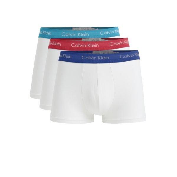 Set de 3 perechi de boxeri albi cu logo – Calvin Klein