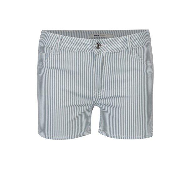 Pantaloni scurti alb&albastru in dungi ONLY Laney