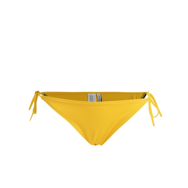Slip de baie galben cu snururi laterale si logo – Calvin Klein