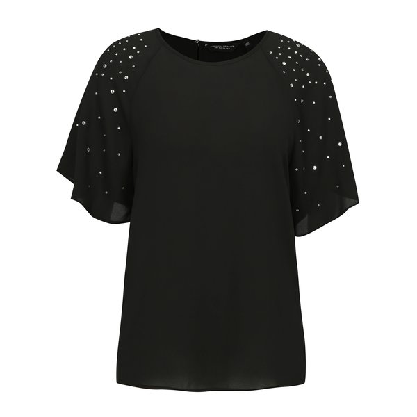 Bluza neagra cu aplicatii din strasuri Dorothy Perkins