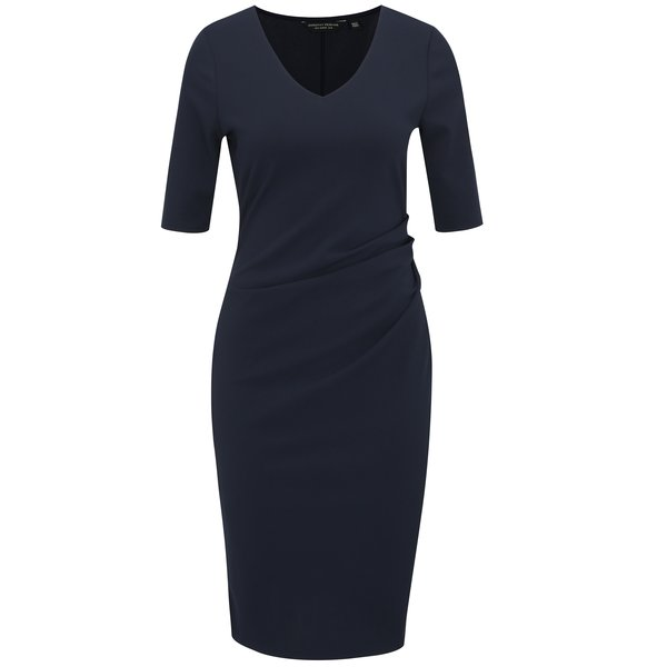 Rochie bleumarin cu pense laterale Dorothy Perkins
