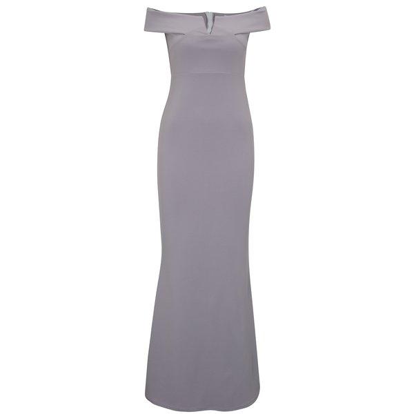 Rochie maxi violet cu decolteu amplu si decupaj discret - MISSGUIDED