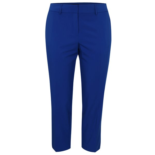Pantaloni cropped bleumarin cu talie inalta Dorothy Perkins Curve
