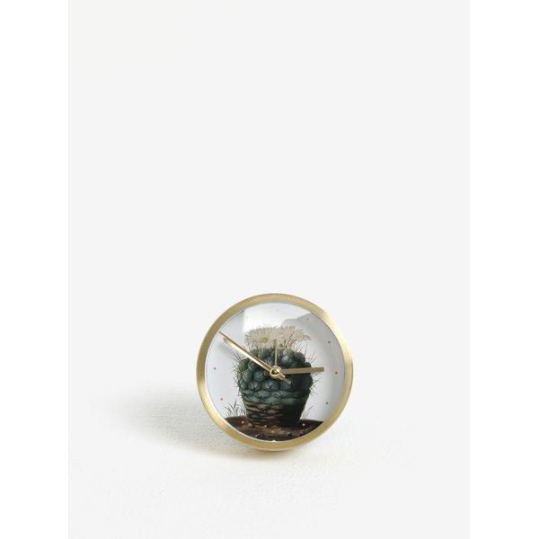 Ceas alb&auriu cu print cactus Magpie Cactus