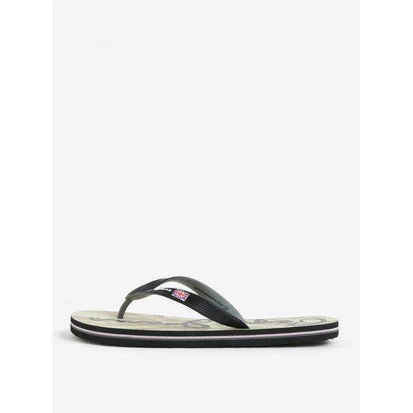 Papuci flip flop negri cu print pe talpa pentru barbati – Pepe Jeans Hawi flag