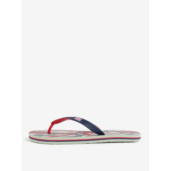 Papuci flip flop bleumarin cu print pe talpa pentru barbati – Pepe Jeans Hawi flag