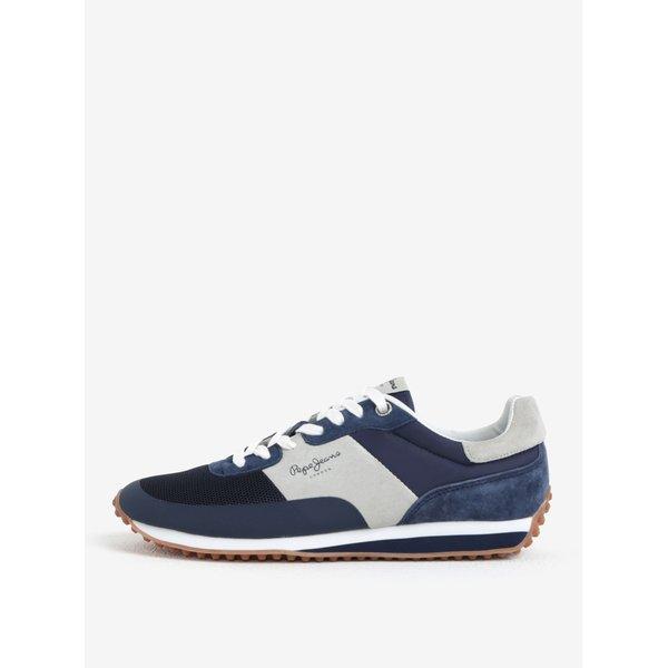 Pantofi sport barbatesti din piele intoarsa albastru & gri – Pepe Jeans Garret Sailor