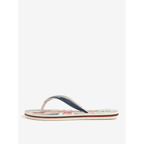 Papuci flip flop bleumarin cu logo pentru femei - Pepe Jeans Rake flag