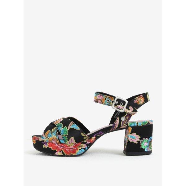 Sandale negre cu platforma si broderie florala – Pepe Jeans Hooper Spring