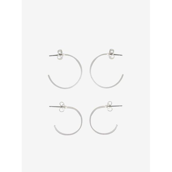 Set de 2 perechi de cercei circulari argintii - VILA Efj Hoops