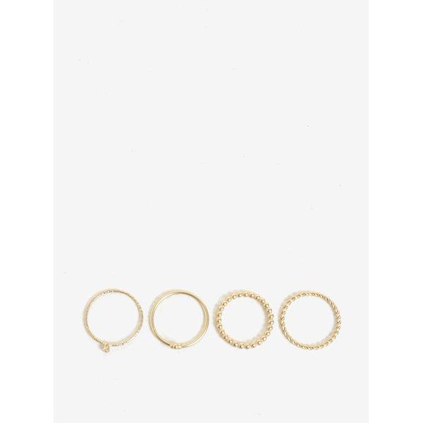 Set de 4 inele aurii - VILA Efj Aura