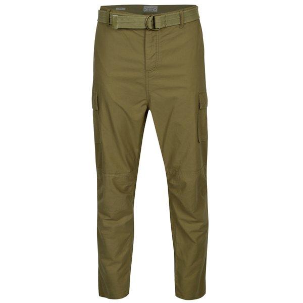 Pantaloni cargo kaki cu o curea in talie – ONLY & SONS Nadir