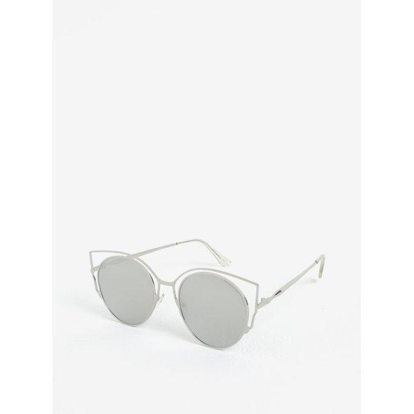 Ochelari de soare cat-eye argintii pentru femei - Jeepers Peepers