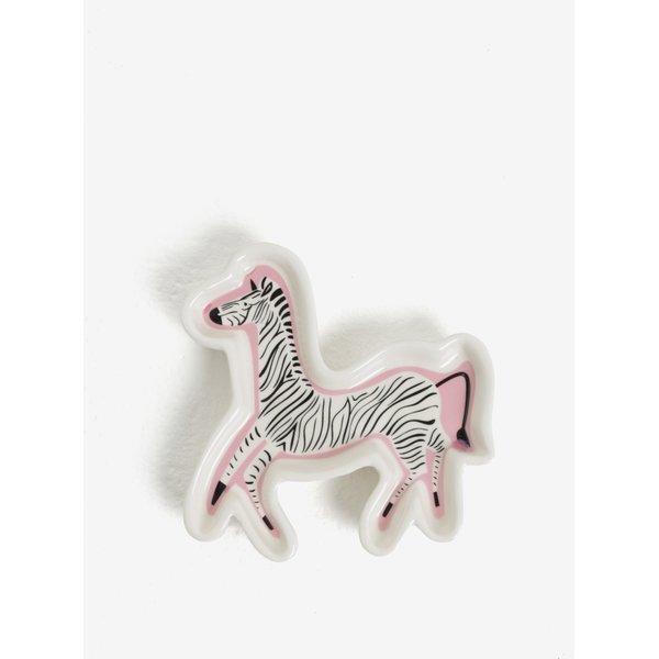 Farfurie ceramica tip zebra pentru bijuterii - CGB