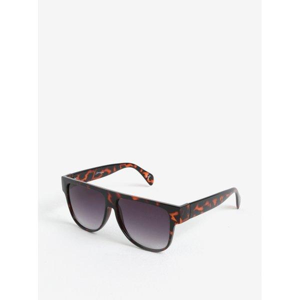 Ochelari de soare maro&negru cu imprimeu tortoise pentru femei - Jeepers Peepers