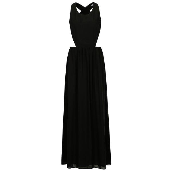 Rochie maxi neagra cu decupaje si bretele incrucisate - SH Pereirde
