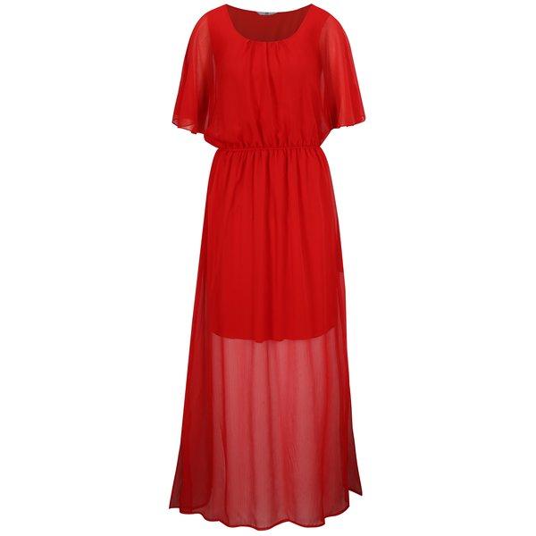 Rochie maxi rosie cu slituri laterale – SH Pereirde