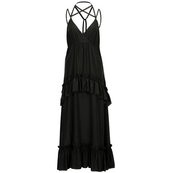 Rochie maxi neagra cu bretele incrucisate – SH Astorga