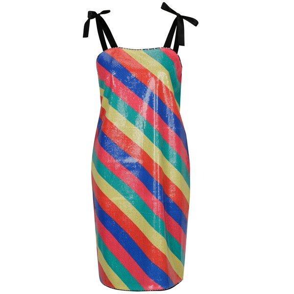 Rochie cu paiete multicolore si model cu dungi – SH Bombinas