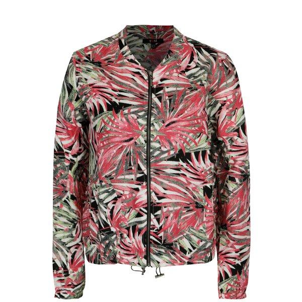 Jacheta bomber verde&roz din in cu print – Yest